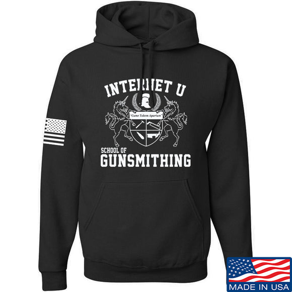 Men of Arms Apparel School of GUNWT Hoodie Hoodies Small / Black by Ballistic Ink - Made in America USA