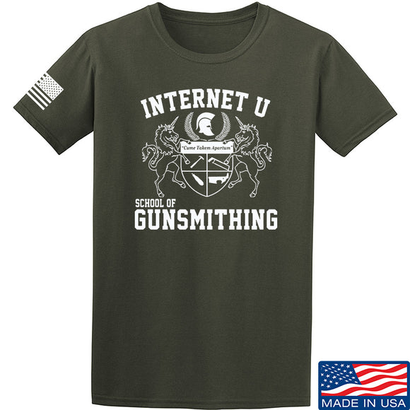 Men of Arms Apparel School of GUNWT T-Shirt T-Shirts Small / Military Green by Ballistic Ink - Made in America USA