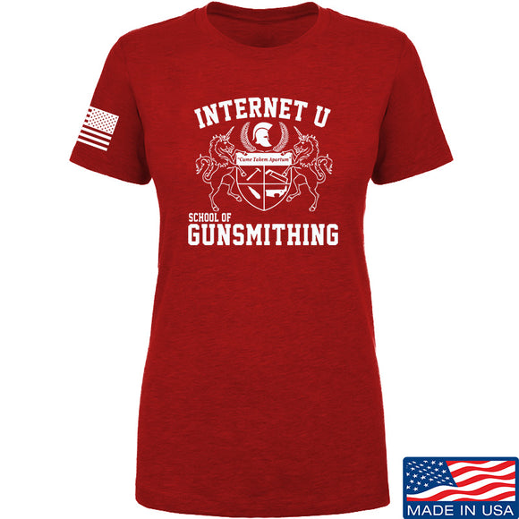 Men of Arms Apparel Ladies School of GUNWT T-Shirt T-Shirts SMALL / Red by Ballistic Ink - Made in America USA