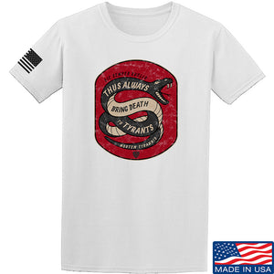 Men of Arms Apparel Sic Semper T-Shirt T-Shirts Small / White by Ballistic Ink - Made in America USA