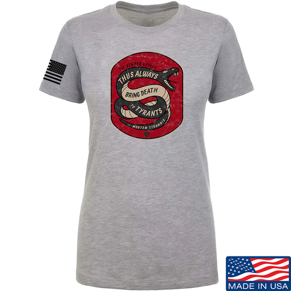 Men of Arms Apparel Ladies Sic Semper T-Shirt T-Shirts SMALL / Light Grey by Ballistic Ink - Made in America USA