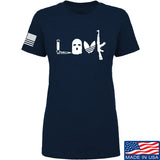Men of Arms Apparel Ladies Slav Love AK T-Shirt T-Shirts SMALL / Navy by Ballistic Ink - Made in America USA