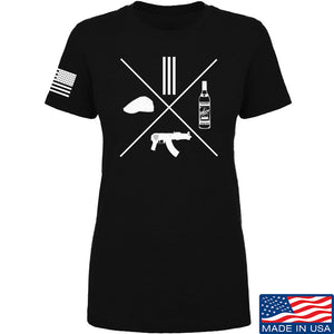 Men of Arms Apparel Ladies Slav Starter Kit T-Shirt T-Shirts SMALL / Black by Ballistic Ink - Made in America USA