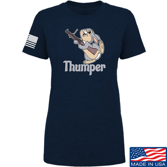 Men of Arms Apparel Ladies Thumper M79 T-Shirt T-Shirts SMALL / Navy by Ballistic Ink - Made in America USA