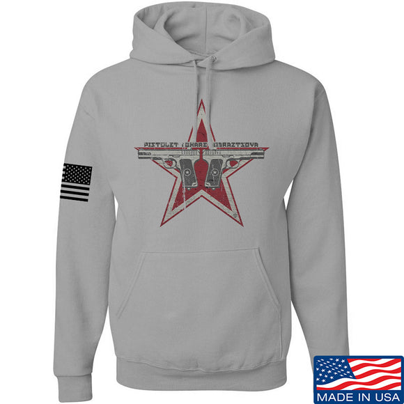 Men of Arms Apparel Tokarev Hoodie Hoodies Small / Light Grey by Ballistic Ink - Made in America USA