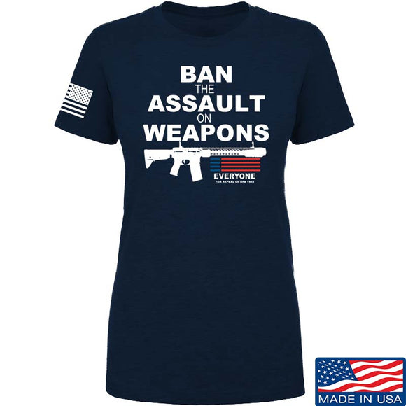 Ladies Ban the Assault on Weapons T-Shirt