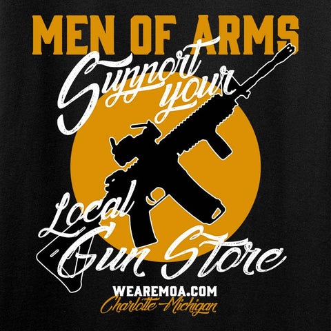 Ladies Support Your Local Gun Store 2-Sided T-Shirt