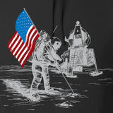 Ballistic Ink First Man on The Moon Hoodie Hoodies [variant_title] by Ballistic Ink - Made in America USA