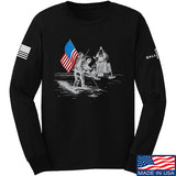 Ballistic Ink First Man on The Moon Long Sleeve T-Shirt Long Sleeve Small / Black by Ballistic Ink - Made in America USA