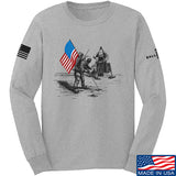 9mmsmg First Man on The Moon Long Sleeve T-Shirt Long Sleeve Small / Light Grey by Ballistic Ink - Made in America USA