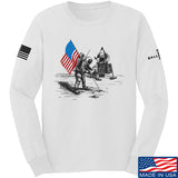 9mmsmg First Man on The Moon Long Sleeve T-Shirt Long Sleeve Small / White by Ballistic Ink - Made in America USA