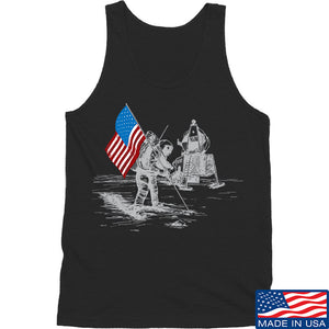 IV8888 First Man on The Moon Tank Tanks SMALL / White by Ballistic Ink - Made in America USA