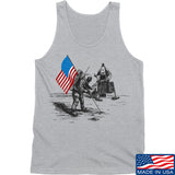 Ballistic Ink First Man on The Moon Tank Tanks SMALL / Light Grey by Ballistic Ink - Made in America USA