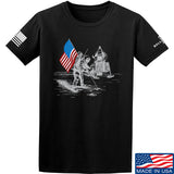 9mmsmg First Man on The Moon T-Shirt T-Shirts Small / Black by Ballistic Ink - Made in America USA
