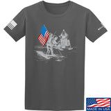 9mmsmg First Man on The Moon T-Shirt T-Shirts Small / Charcoal by Ballistic Ink - Made in America USA