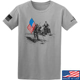 9mmsmg First Man on The Moon T-Shirt T-Shirts Small / Light Gray by Ballistic Ink - Made in America USA