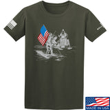 9mmsmg First Man on The Moon T-Shirt T-Shirts Small / Military Green by Ballistic Ink - Made in America USA