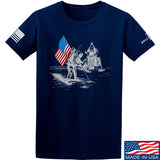 9mmsmg First Man on The Moon T-Shirt T-Shirts Small / Navy by Ballistic Ink - Made in America USA