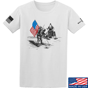 Skinny Medic First Man on The Moon T-Shirt T-Shirts Small / Sand by Ballistic Ink - Made in America USA