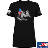 Ballistic Ink Ladies First Man on The Moon T-Shirt T-Shirts SMALL / Black by Ballistic Ink - Made in America USA