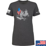 Ballistic Ink Ladies First Man on The Moon T-Shirt T-Shirts SMALL / Charcoal by Ballistic Ink - Made in America USA