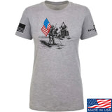 Ballistic Ink Ladies First Man on The Moon T-Shirt T-Shirts SMALL / Light Grey by Ballistic Ink - Made in America USA