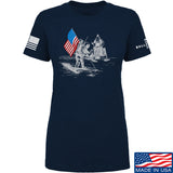 Ballistic Ink Ladies First Man on The Moon T-Shirt T-Shirts SMALL / Navy by Ballistic Ink - Made in America USA
