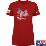 Ballistic Ink Ladies First Man on The Moon T-Shirt T-Shirts SMALL / Red by Ballistic Ink - Made in America USA