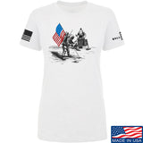 Ballistic Ink Ladies First Man on The Moon T-Shirt T-Shirts SMALL / White by Ballistic Ink - Made in America USA