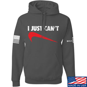 Mrgunsngear I Just Can't Hoodie Hoodies Small / Charcoal by Ballistic Ink - Made in America USA