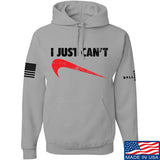 Mrgunsngear I Just Can't Hoodie Hoodies Small / Light Grey by Ballistic Ink - Made in America USA