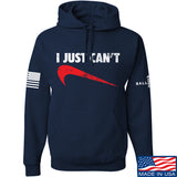 Mrgunsngear I Just Can't Hoodie Hoodies Small / Navy by Ballistic Ink - Made in America USA