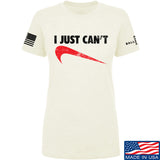 Mrgunsngear Ladies I Just Can't T-Shirt T-Shirts SMALL / Cream by Ballistic Ink - Made in America USA