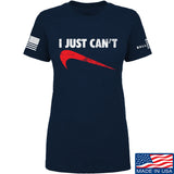 Mrgunsngear Ladies I Just Can't T-Shirt T-Shirts SMALL / Navy by Ballistic Ink - Made in America USA
