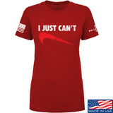 Mrgunsngear Ladies I Just Can't T-Shirt T-Shirts SMALL / Red by Ballistic Ink - Made in America USA