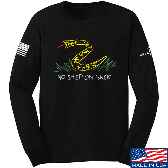 Mrgunsngear No Step On Snek Long Sleeve T-Shirt Long Sleeve Small / Black by Ballistic Ink - Made in America USA