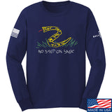 Mrgunsngear No Step On Snek Long Sleeve T-Shirt Long Sleeve Small / Navy by Ballistic Ink - Made in America USA