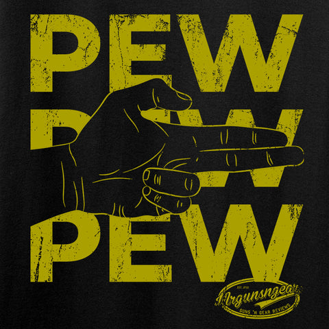 Mrgunsngear Pew Pew Pew Long Sleeve T-Shirt Long Sleeve [variant_title] by Ballistic Ink - Made in America USA