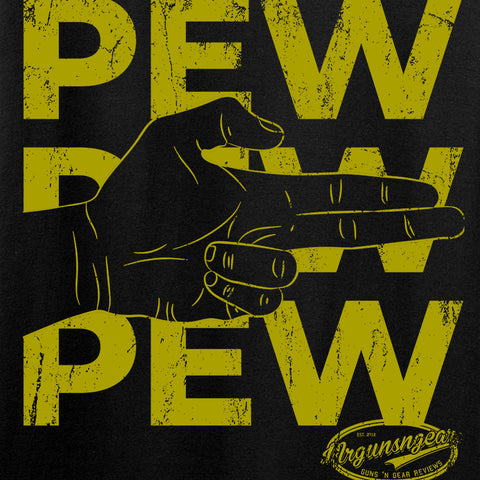 Mrgunsngear Ladies Pew Pew Pew T-Shirt T-Shirts [variant_title] by Ballistic Ink - Made in America USA
