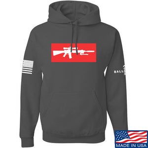 Mrgunsngear Supreme Mk12 Hoodie Hoodies Small / Black by Ballistic Ink - Made in America USA