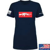 Mrgunsngear Ladies Supreme Mk12 T-Shirt T-Shirts SMALL / Navy by Ballistic Ink - Made in America USA