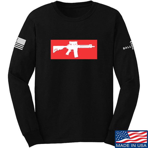 Mrgunsngear Supreme Mk18 Long Sleeve T-Shirt Long Sleeve Small / Black by Ballistic Ink - Made in America USA