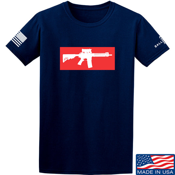 Mrgunsngear Supreme Mk18 T-Shirt T-Shirts Small / Navy by Ballistic Ink - Made in America USA