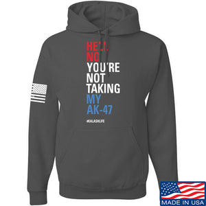 Mrgunsngear Hell No You're Not Taking My AK-47 Hoodie Hoodies Small / Charcoal by Ballistic Ink - Made in America USA