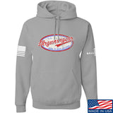Mrgunsngear Mrgunsngear Logo Hoodie Hoodies Small / Light Grey by Ballistic Ink - Made in America USA