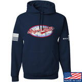 Mrgunsngear Mrgunsngear Logo Hoodie Hoodies Small / Navy by Ballistic Ink - Made in America USA