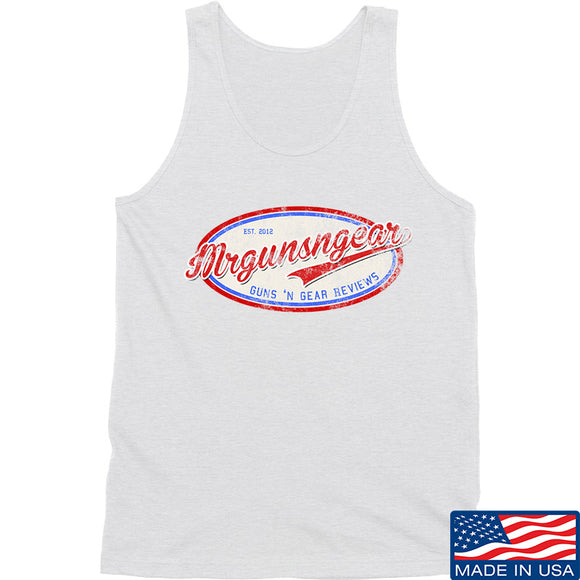 Mrgunsngear Mrgunsngear Logo Tank Tanks SMALL / White by Ballistic Ink - Made in America USA