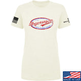 Mrgunsngear Ladies Mrgunsngear Logo T-Shirt T-Shirts SMALL / Cream by Ballistic Ink - Made in America USA