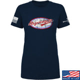 Mrgunsngear Ladies Mrgunsngear Logo T-Shirt T-Shirts SMALL / Navy by Ballistic Ink - Made in America USA