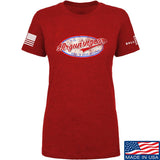 Mrgunsngear Ladies Mrgunsngear Logo T-Shirt T-Shirts SMALL / Red by Ballistic Ink - Made in America USA